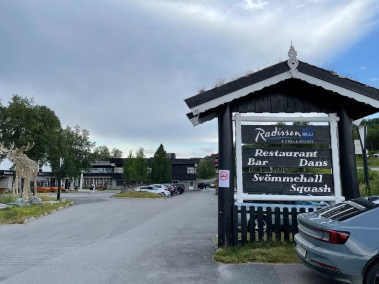 Car park of Radisson Blu Beitostølen