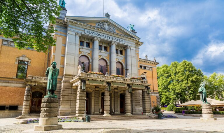 The exterior of Norway's National Theatre in Oslo.