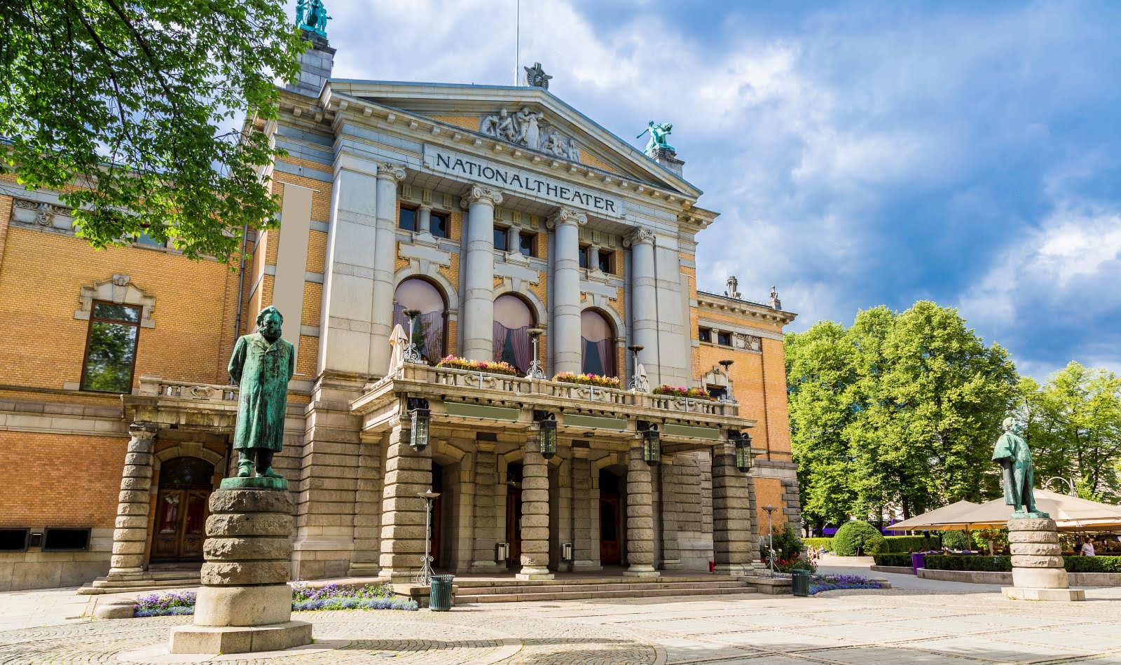 Exterior of Oslo's National Theatre in Norway