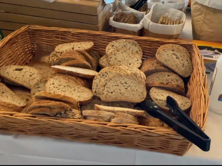 Bread basket at the breakfast buffet