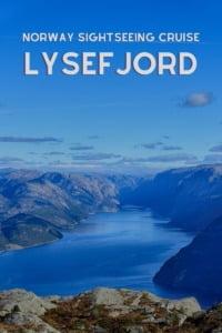 Lysefjord Sightseeing Cruise Pin