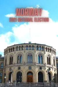 Norway National Election 2021 pin