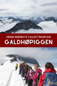 Norway Highest Mountain Pin
