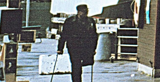 The German man on crutches.