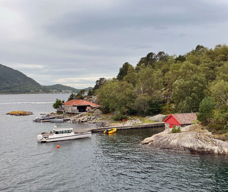An island on the way to the Lysefjord in Norway