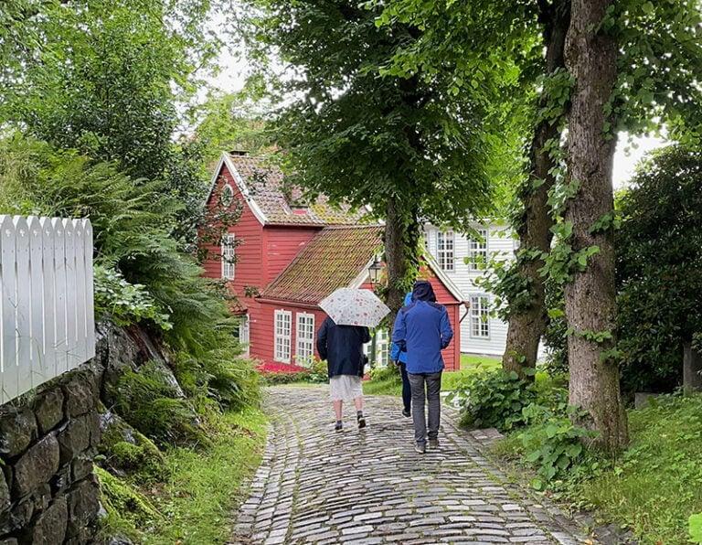 Cobbled street in Gamle Bergen Museum