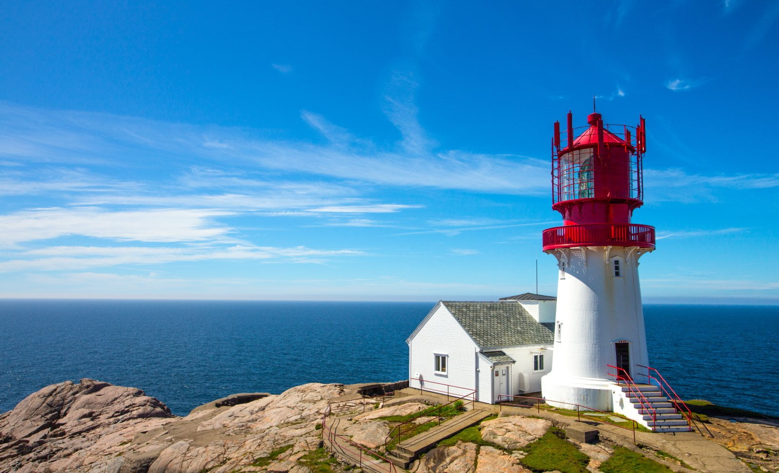 Lindesnes lighthouse at Norway's southern cape