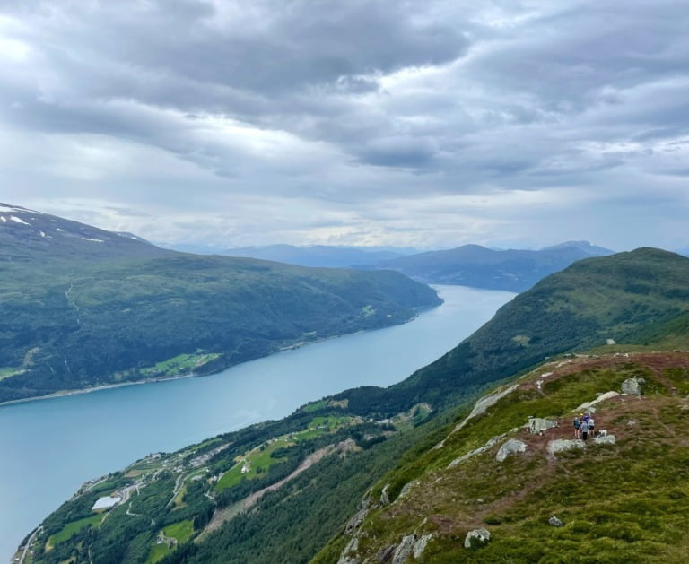The Nordfjord as seen from the top of Mount Hoven.