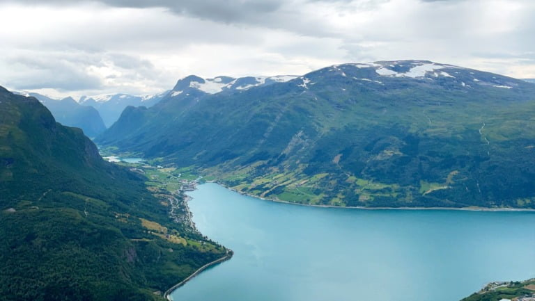 Nordfjord from the top of the Loen Skylift