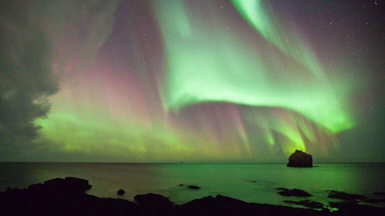 A display of the Northern Lights in northern Norway