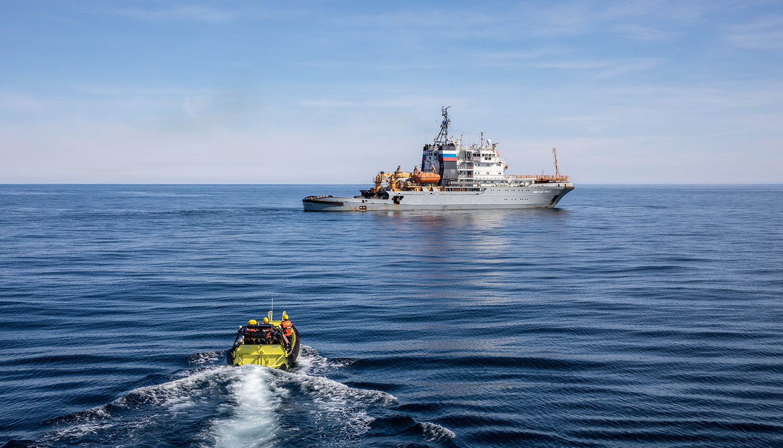 Norway coast guard exercise in the Barents Sea