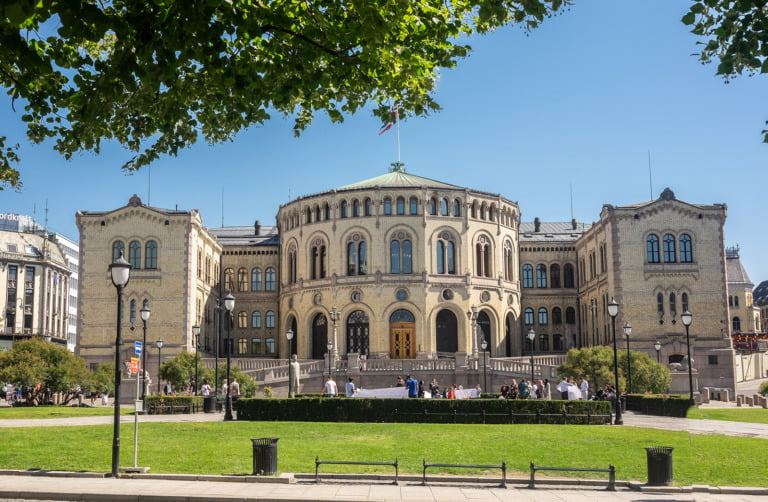 Norway's parliament building in Oslo