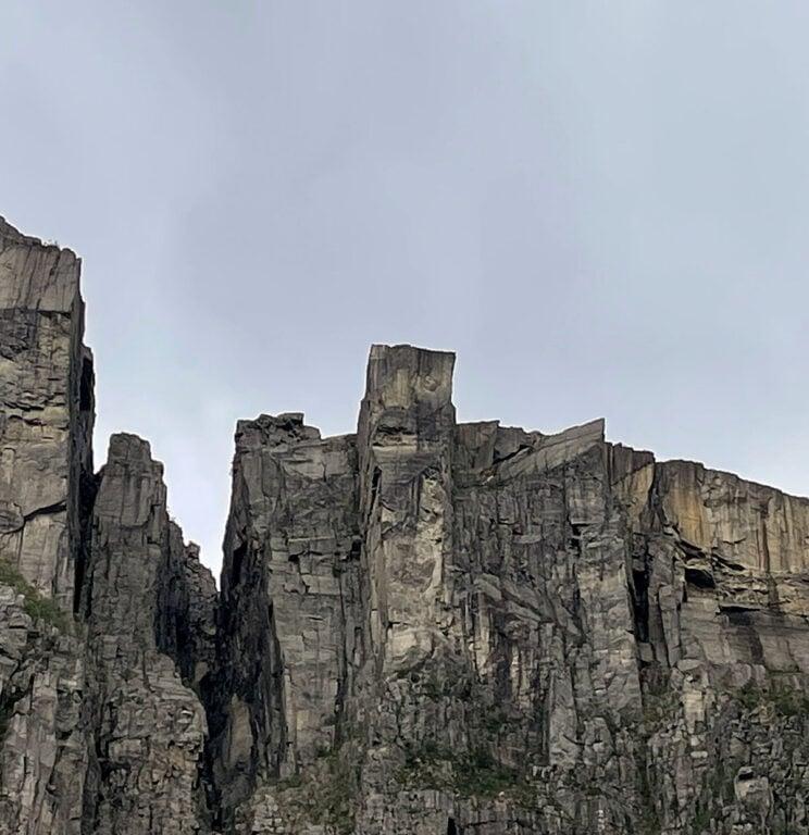Preikestolen seen from fjord level