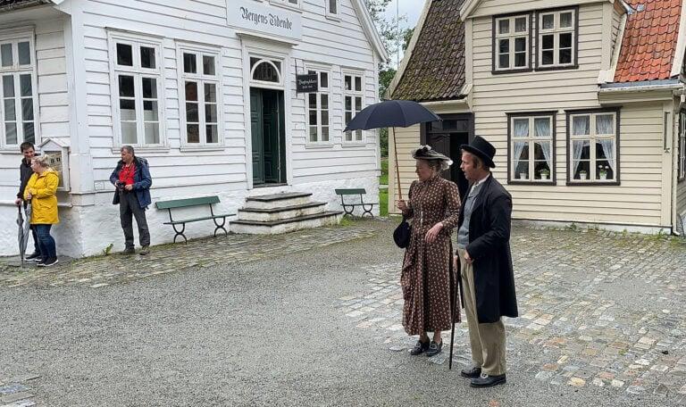Reenactment at the Old Bergen Museum