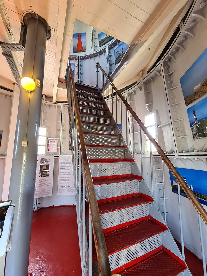 Stairwell inside Lindesnes lighthouse