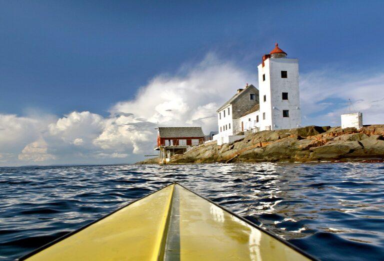 Fulehuk lighthouse in the Oslofjord