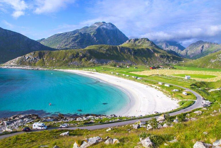 Haukland beach in Norway's Lofoten