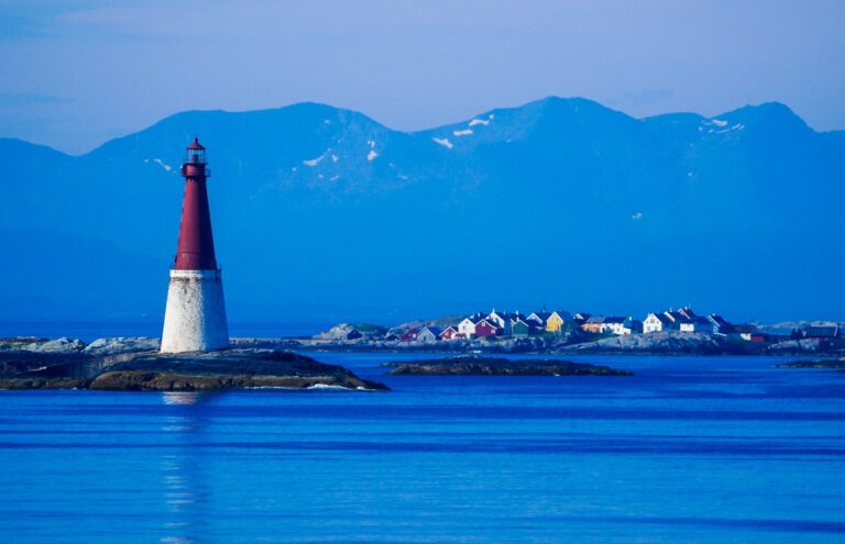 Lighthouse on the Grip archipelago in Norway
