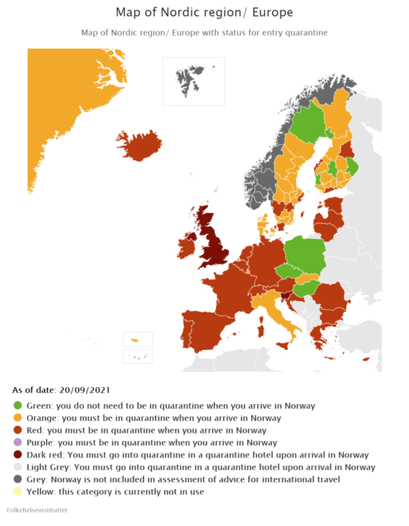 EU colour-code system for travel and entry restrictions