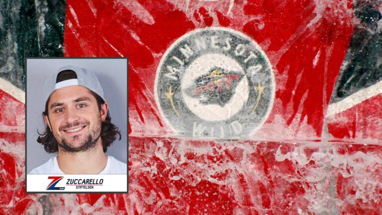 Mats Zuccarello and a Minnesota Wild hockey jersey