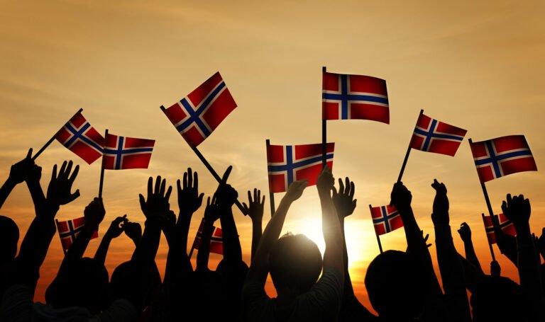 Norway crowd of people celebrating
