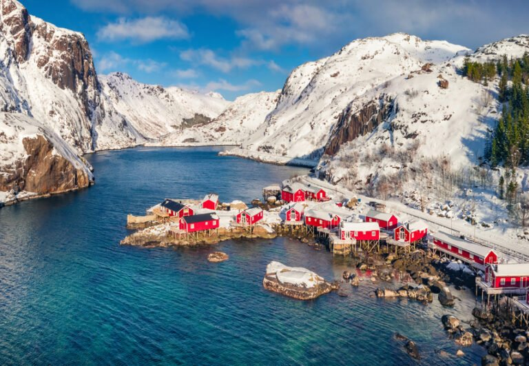 Nusfjord village in the winter