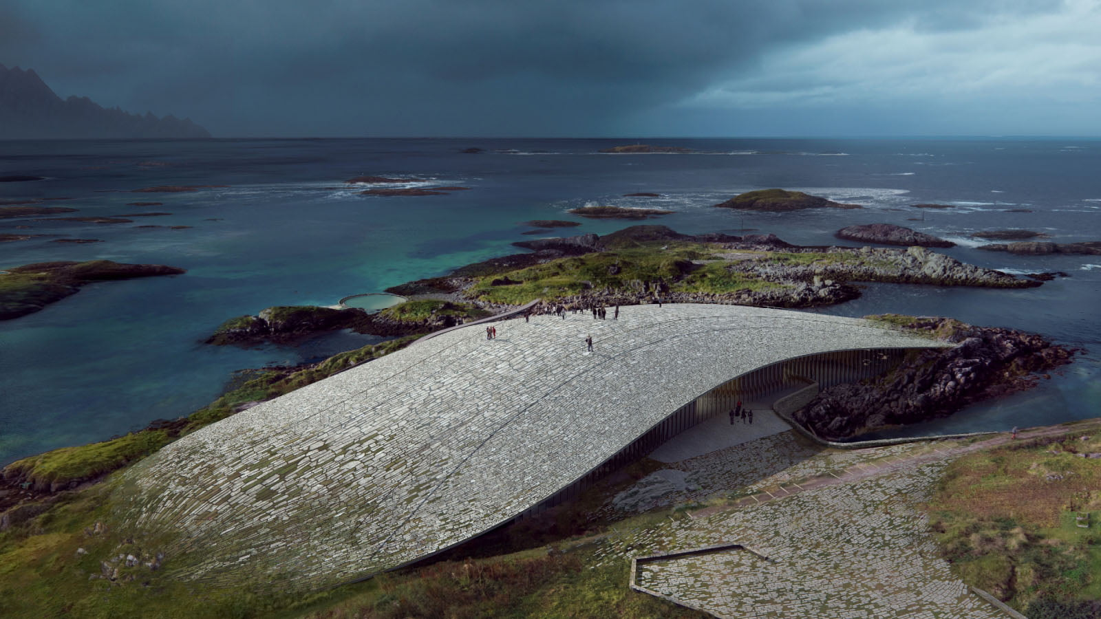 Design of The Whale visitor centre in Northern Norway