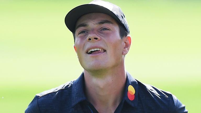 Norwegian Viktor Hovland on the golf course
