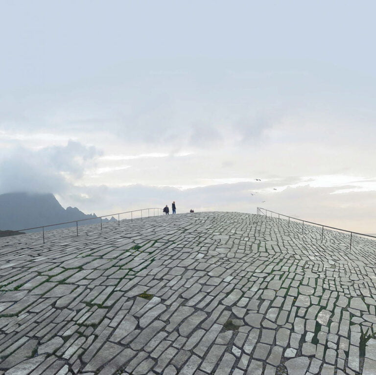 The proposed walkable roof of The Whale visitor centre in Andøya