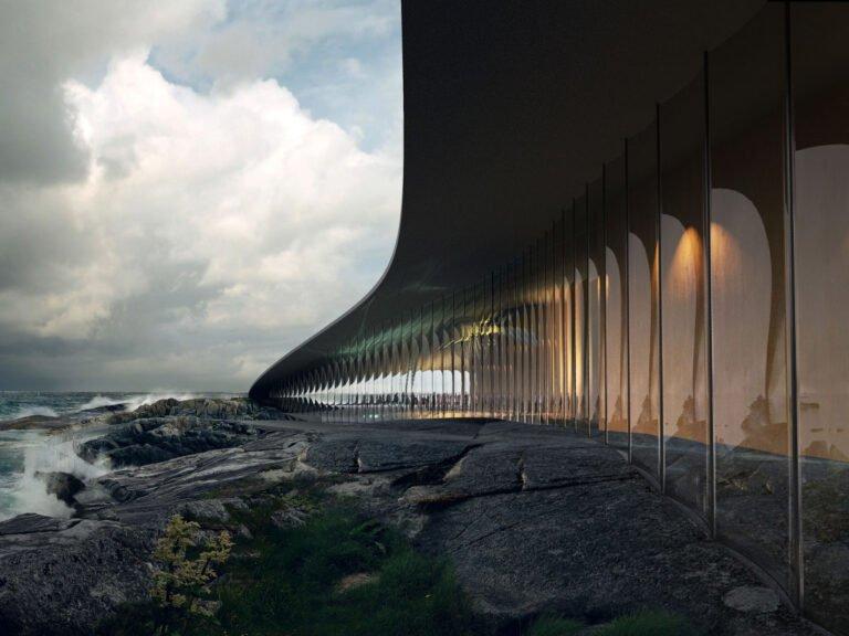 Whale windows facing the ocean