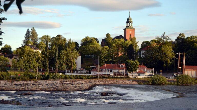 Kongsberg town in Norway