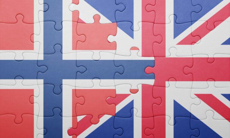Norway UK flag jigsaw