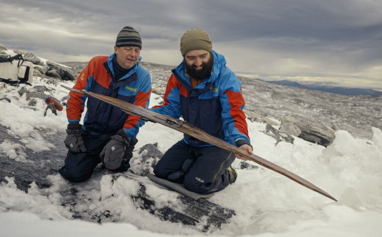 Discovery of the second ski in Norway mountains.