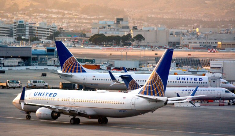 United Airlines planes on the tarmac
